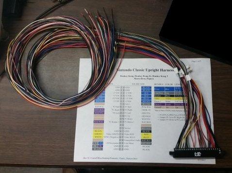 donkey kong wiring harness