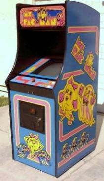 New Midway Ms Pac Man Cabinet